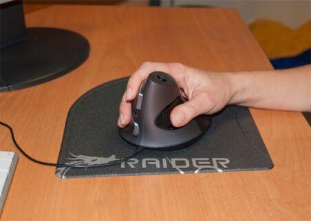 DACOMEX Souris verticale V200U USB noire
