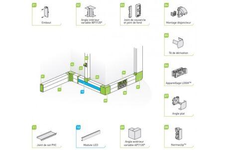 Joint de fond pour goulotte LOGIX 45 et LOGIX Universel Plan
