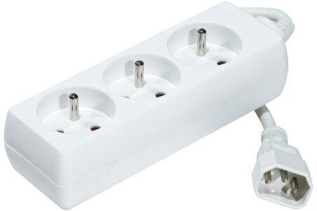 Multiprise onduleur 3 prises / cordon IEC C14 blanche - 0,8