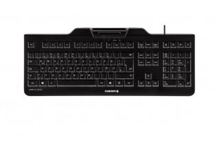 CHERRY Clavier (+cart puces) KC-1000 SC USB noir AZERTY (BE)