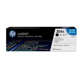 Pack toner HP CC530AD 304A - 2 x Noir