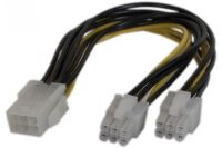 Doubleur d'alimentation PCI Express 6 pins -15 cm