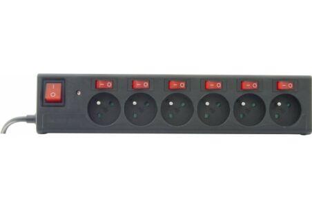 Multiprise protégée parafoudre 6 prises avec interrupteur individuel