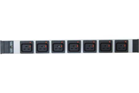 Multiprise 19'' 7 prises C19 verrouillables / fiche CEE7