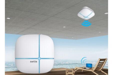 NETIS WF2520 Plafonnier WiFi N300 auto-alimente PoE actif