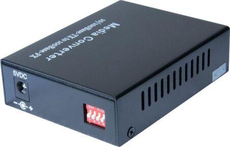 Convert. RJ45 10/100/1000 - Fibre Gigabit Monomode SC 20Kms