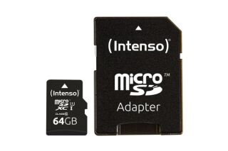 INTENSO Carte MicroSDXC UHS-I Class 10 - 64Go