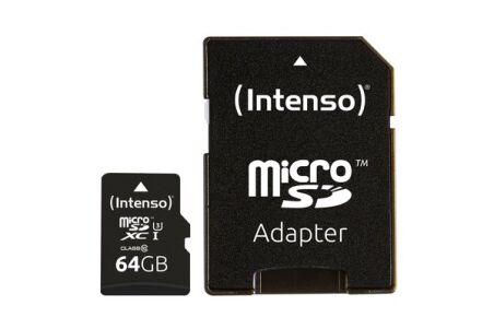 INTENSO Carte MicroSDXC UHS-I Professional Class 10 - 64 Go