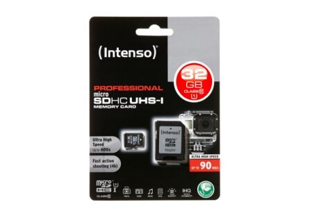 INTENSO Carte MicroSDHC UHS-I Professional Class 10 - 32 Go