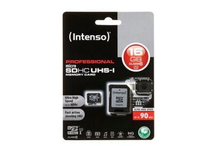 INTENSO Carte MicroSDHC UHS-I Professional Class 10 - 16 Go