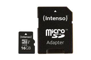 INTENSO Carte MicroSDHC UHS-I Class 10 - 16Go