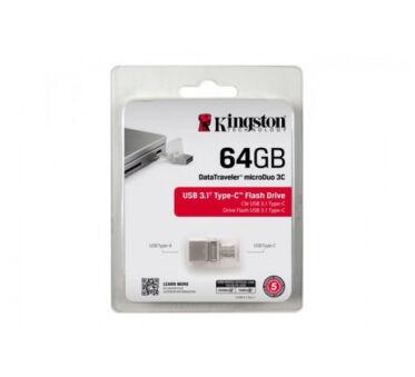 KINGSTON Clé USB 3.0/3.1 DataTraveler microDuo 3C - 64Go