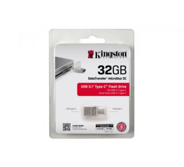 KINGSTON Clé USB 3.0/3.1 DataTraveler microDuo 3C - 32Go
