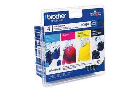 Pack cartouche BROTHER LC980VALBP - Noir + 3 couleurs