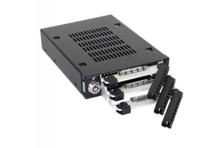 ICY DOCK Rack amovible MB993SK-B 3 disques SATA 2.5""