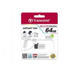TRANSCEND Cle USB 2.0 JetFlash 380 - 64Go Gris