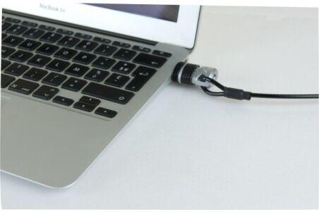 Câble antivol sur port USB pour ordinateur portable