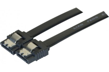 Câble sata 6GB/s slim sécurisé (noir) - 50 cm