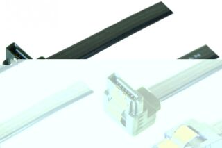 Câble sata 6GB/s coudé bas slim sécurisé (noir) - 20 cm