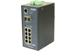 PLANET IGS-10020HPT Switch industriel Niveau 2 8 ports Gigabit PoE+ & Fibre