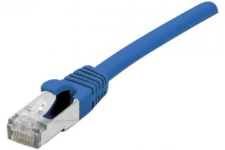 Cordon RJ45 sur câble catégorie 7 S/FTP LSOH snagless bleu -