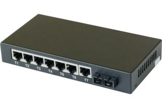 Switch 7 ports 10/100 + fibre 100FX multimode sc 2KM