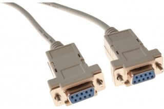 Cable null modem DB9F/F 1,80M