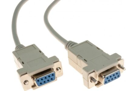 Cable null modem DB9F/F 1,00M