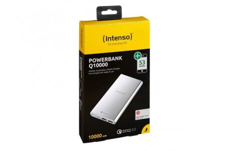 Intenso powerbank Q10000 charge rapide microUSB/2USB - gris