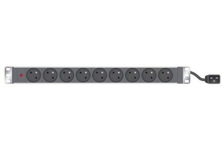 INFOSEC Multiprise rackable 19'' 9 prises / fiche C20 avec voyant