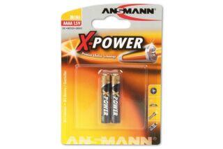 ANSMANN Piles alcalines 1510-0005 LR61 AAAA - blister de 2