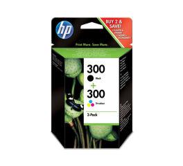Pack cartouche HP CN637EE n° 300 - Noir + 3 couleurs