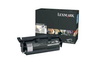 Toner LEXMARK X654X31E X654, X656, X658 - Noir