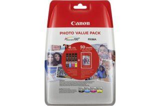 Cartouche CANON 6443B006 CLI-551XL - Noir + 3 couleurs