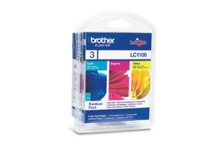 Pack cartouche BROTHER LC1100RBW - 3 couleurs