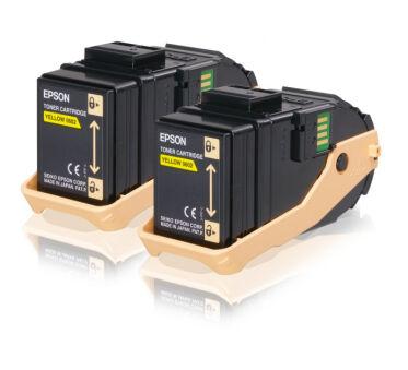 Pack de 2 toner EPSON C13S050606 AL-C9 - Yellow
