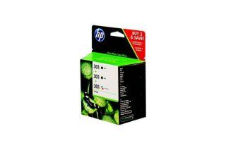 Pack cartouche HP E5Y87EE n°301 - Noir + 3 couleurs