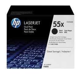Pack de 2 Toner HP CE255XD n°55X - Noir