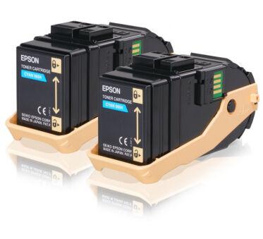 Pack de 2 Toner EPSON C13S050608 AL-C93 - Cyan