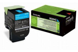 Toner LEXMARK 80C2HCE 802HCE - Cyan