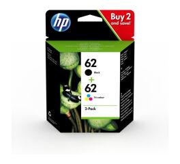 Pack cartouche HP N9J71AE n°62 - Noir + 3 couleurs