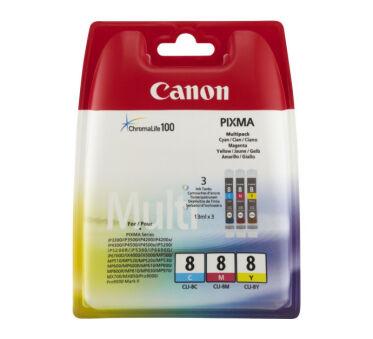 Cartouche CANON 0621B029 CLI-8 - 3 couleurs