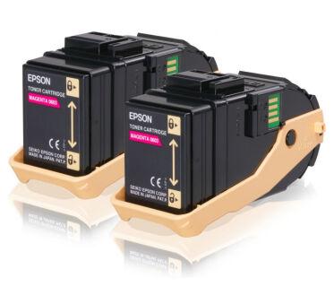 Pack de 2 toner EPSON C13S050607 AL-C9300N - Magenta