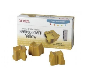 Encre Solide XEROX 108R00725 pour Phaser 8560 - 3 x Yellow