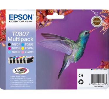 Pack EPSON C13T08074011 Séire COLIBRI - Noir+ 5 couleurs
