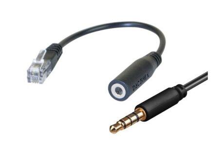 Dacomex adaptateur casque GSM jack pour téléphone de bureau