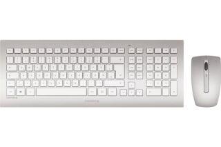 CHERRY Pack clavier & souris DW 8000 Sans fil Argent/Blanc
