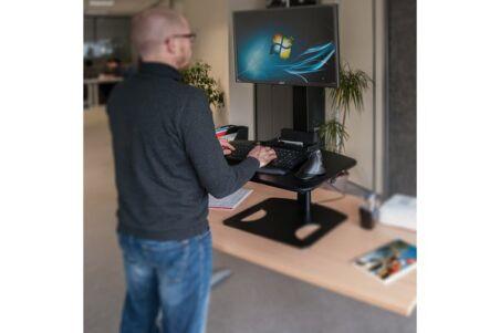 Réhausse d'écran et clavier réglable assis  / debout