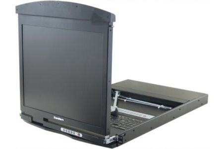 "console LCD 19"" Dual-Rail KVM CAT5 VGA/USB +8 Modules"