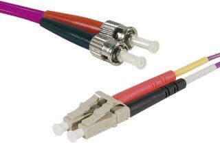 Jarretière optique duplex HD multi OM4 50/125 LC-UPC/ST-UPC erika - 1 m